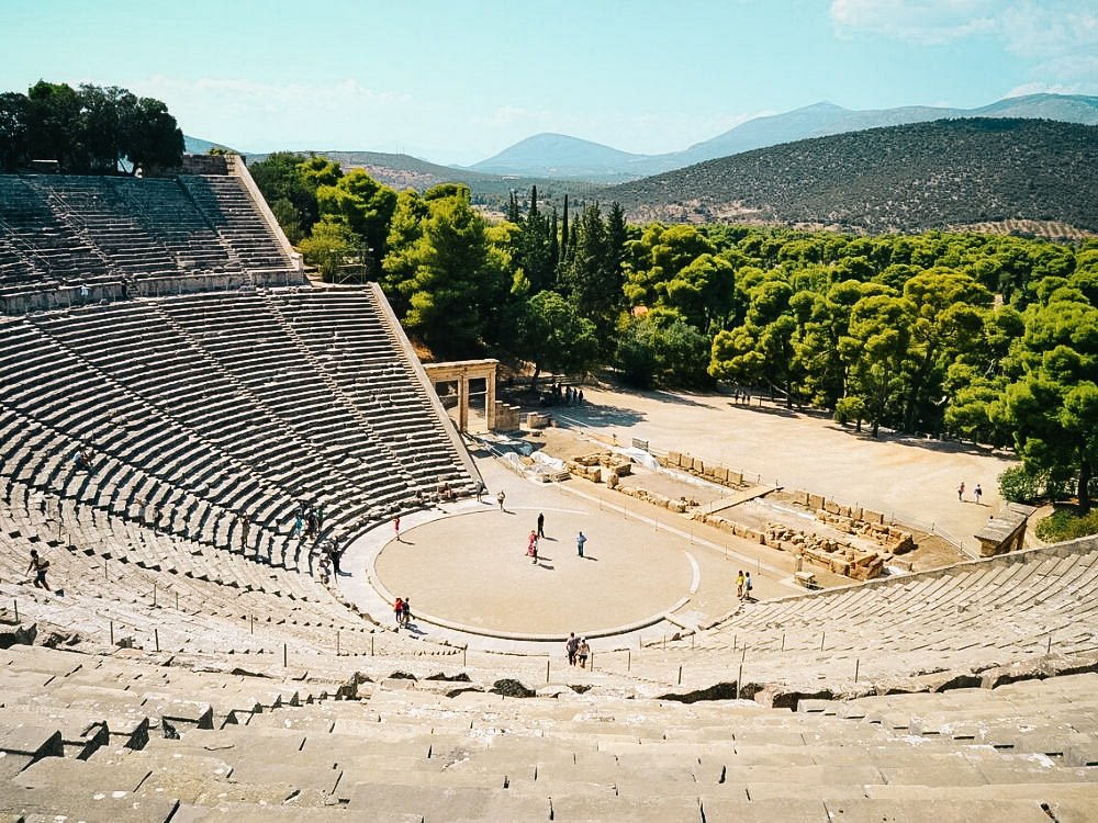 Peloponēze ceļojums Epidaurus teātris