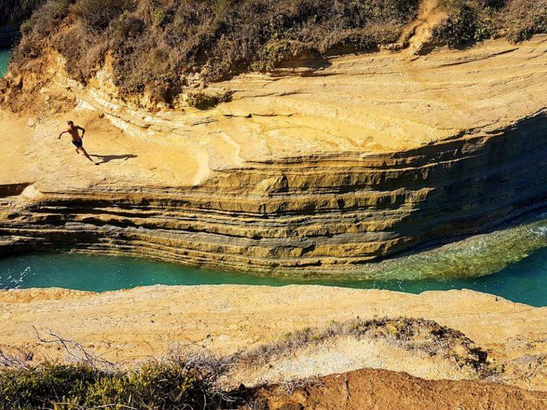 Korfu sala ceļojums Canal dAmour